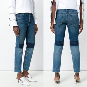 NWT Helmut Lang Patchwork High Rise Crop Jeans